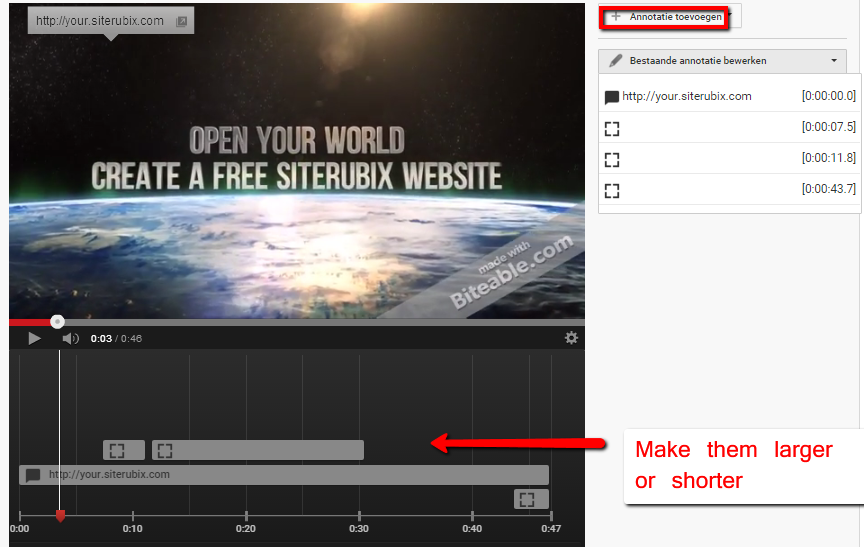 Annotations on Youtube