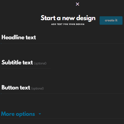 Enter your text and click on Create