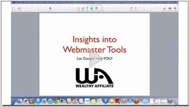 Google Webmaster Tools training