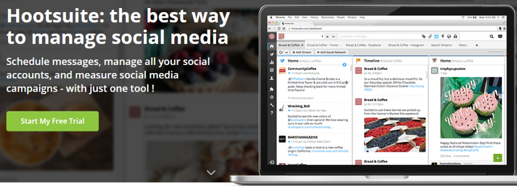 Hootsuite, all your Social Networks in one tool