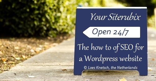 How to of SEO for a wordpress website