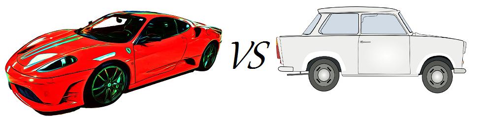 Ferrari vs Trabant