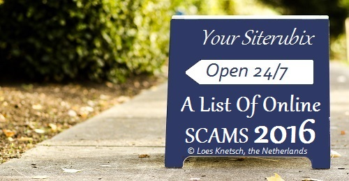 A list of online scams 2016