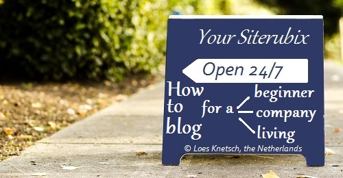 How to blog for a