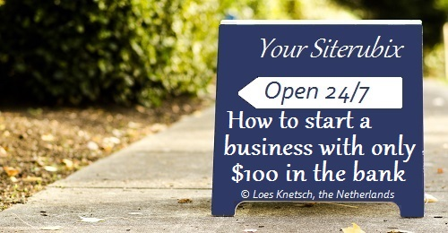 How to start a business with only 100 in the bank
