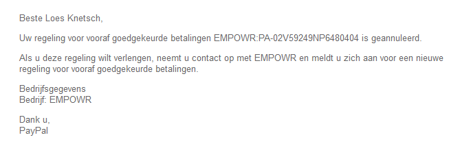 empowr paypal canceling
