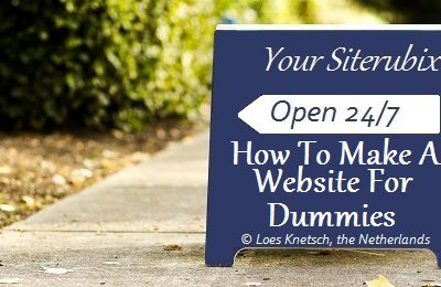 How to make a website for dummies