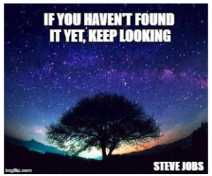 If you haven't found it yet, keep looking