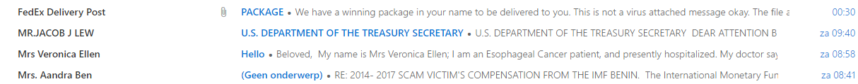 Examples phishing email scams