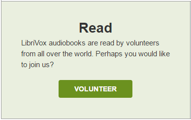 Become a volunteer for librivox