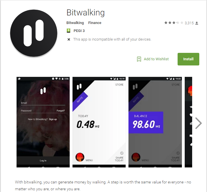 bitwalking app to good to be true