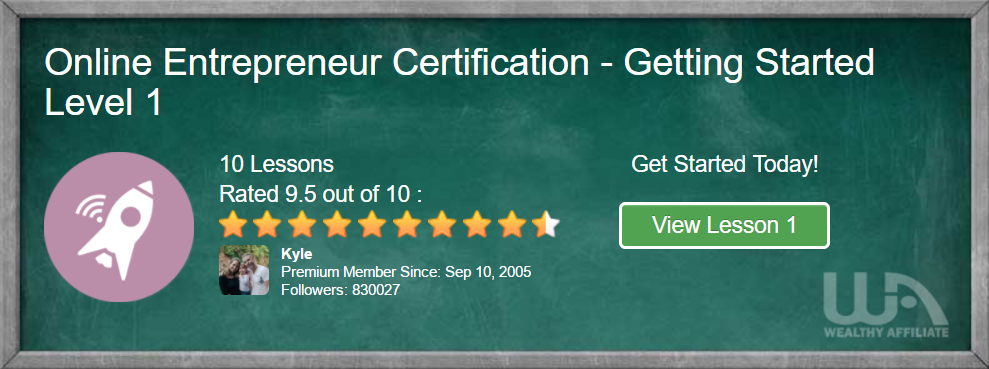 Wealthy Affiliate Certification Course