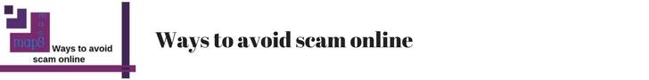 ways to avoid scam online